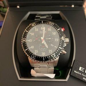 Swiss Made Edox Chronorally S Racing Chronograph